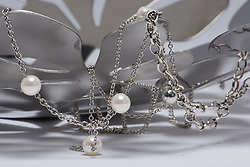 Metal and pearls