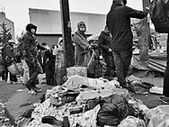Paris Saint Ouen misery market during Covid 19 pandemic.
