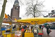 Nederland, Wageningen, 13-3-2013Het centrum van de stad met markt en winkelgebied.Het stadje aan de rijn, nederrijn, heeft de universiteit,wur, en er is de capitulatie van de duitse troepen getekend in 1945.Foto: Flip Franssen/Hollandse HoogteFoto: Flip Franssen/Hollandse Hoogte