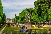 Jardins des Grands Explorateurs, adjacent to the Luxembourg Gardens, Paris, France.