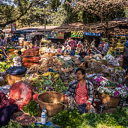 The main local market in the township of Chauck. Many locals are used to carry their grocery back home on their heads. An age-old tradition which can be observed almost everywhere in Myanmar. The markets usually offer a great variety of fresh veggies, but also the most important ingrediant of Myanmar's cuisine; dry fish.