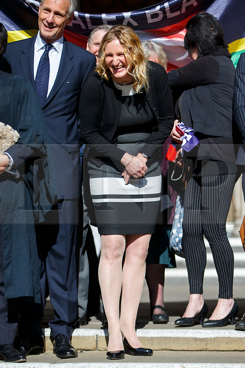 © Licensed to London News Pictures.15/03/2017.London, UK. CLAIRE BLACKMAN, wife of Sergeant Alexander Blackman, leaves the Royal Courts of Justice in London, where a ruling was made in an appeal against the conviction of Sgt Blackman. Also known as Marine A, Sgt Blackman's life sentence for the murder of a wounded Taliban fighter in Afghanistan in 2011 reduced to manslaughter. Photo credit: Tolga Akmen/LNP