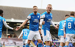 Joe Ward of Peterborough United celebrates the second goal of the game - Mandatory by-line: Joe Dent/JMP - 17/10/2020 - FOOTBALL - Weston Homes Stadium - Peterborough, England - Peterborough United v Oxford United - Sky Bet League One