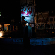 January 17, 2012 - Idleb, Syria: A syrian army defector poses near a anti-regime monument in central Bennish, a revolution stronghold in the outskirts of Idlib city.