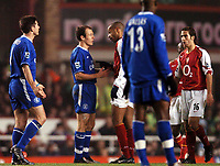 Photo: Javier Garcia/Back Page Images<br />Arsenal v Chelsea, FA Barclays Premiership, Highbury 12/12/04<br />Thierry Henry points the finger at Arjen Robben