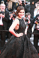 Sonam Kapoor at the The Homesman gala screening red carpet at the 67th Cannes Film Festival France. Sunday 18th May 2014 in Cannes Film Festival, France.