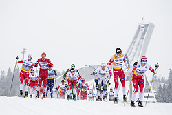 March 9, 2019 - Oslo, NORWAY - 190309 Martin Johnsrud Sundby of Norway, Aleksandr Bolsjunov of Russia, Sjur Røthe of Norway, Daniel Rickardsson of Sweden, Johannes Høsflot Klæbo of Norway  and Simen Hegstad Krüger of Norway compete in men's 50 km classic technique during the FIS Cross-Country World Cup on March 9, 2019 in Oslo..Photo: Fredrik Varfjell / BILDBYRÃ…N / kod FV / 150211. (Credit Image: © Fredrik Varfjell/Bildbyran via ZUMA Press)