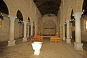 Israel, Sea of Galilee, Tabgha, Interior of the Church of the Multiplication of Loaves and Fishes