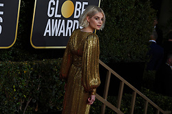January 6, 2019 - Los Angeles, California, U.S. - Lucy Boynton from Bohemian Rhapsody during red carpet arrivals for the 76th Annual Golden Globe Awards at The Beverly Hilton Hotel. (Credit Image: © Kevin Sullivan via ZUMA Wire)