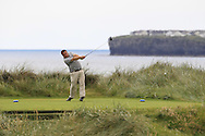 Aaron Grant (Dundalk) on the 4th tee during Matchplay Round 2 of the South of Ireland Amateur Open Championship at LaHinch Golf Club on Friday 22nd July 2016.<br /> Picture:  Golffile | Thos Caffrey<br /> <br /> All photos usage must carry mandatory copyright credit   (© Golffile | Thos Caffrey)