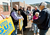 Election day outside Gilford Middle School on Tuesday, March 9, 2010.