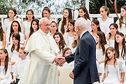 Pope Francis and President Shimon Peres during the Papal visit to Israel May 26 2014