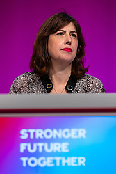 © Licensed to London News Pictures. 26/09/2021. Brighton, UK. LUCY POWELL at the conference . The second day of the 2021 Labour Party Conference , which is taking place at the Brighton Centre . Photo credit: Joel Goodman/LNP