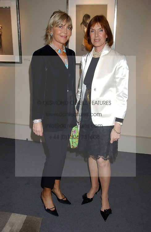 Left to right, ROSIE, MARCHIONESS OF NORTHAMPTON and LADY STEWART at a private view of fashion designer Lindka Cierach's Couture Dresses drawn by Trudy Good held at the Belgravia Gallery, 45 Albemarle Street, London on 21st September 2005.<br /><br />NON EXCLUSIVE - WORLD RIGHTS