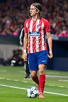 Atletico de Madrid Filipe Luis during UEFA Champions League match between FK Qarabag and Atletico de Madrid at Wanda Metropolitano in Madrid, Spain. October 31, 2017. (ALTERPHOTOS/Borja B.Hojas)