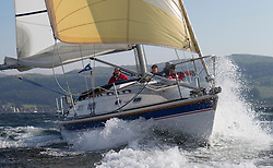 Largs Regatta Week 2015, hosted by Largs Sailing Club and Fairlie Yacht Club<br /> <br /> 931C, Mallie, Westerly Fulmar, Ken McClelland/Tom MacFadyen<br /> <br /> Credit Marc Turner