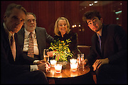 JEREMY IRONS; FRANCIS FORD COPPOLA; SINEAD CUSACK, Liberatum Cultural Honour for Francis Ford Coppola<br /> with Bulgari Hotel & Residences, London. 17 November 2014