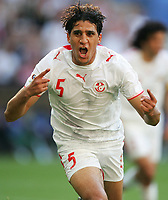 1:0 Jubel Zied Jaziri Tunesien <br /> Fussball WM 2006 Tunesien - Saudi-Arabien<br /> Tunisia - Saudi-Arabia<br />  Norway only