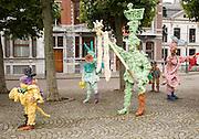 Artwork display in Vrijthof square, Maastricht, Limburg province, Netherlands