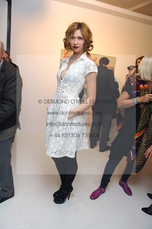 MARGO STILLEY at an exhibition of paintings by artist Rene Richard at the Scream Gallery, Bruton Street, London on 3rd April 2008.<br /><br />NON EXCLUSIVE - WORLD RIGHTS
