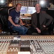NLD/Blaricum/20120326 - Edin evers in de studio van Ferdi Bolland ivm opname EK cd,