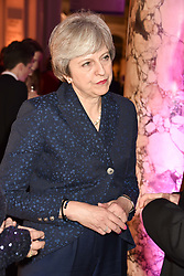 The Prime Minister Theresa May at The Sugarplum Dinner 2017 to benefit the type 1 diabetes charity JDRF held at the Victoria & Albert Museum, Cromwell Road, London England. 14 November 2017.