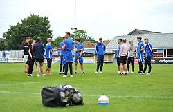 A young Bristol Rovers XI and trialists inspect the pitch at the Viridor Stadium - Mandatory by-line: Paul Knight/JMP - 18/07/2017 - FOOTBALL - Viridor Stadium - Taunton, England - Taunton Town v Bristol Rovers XI - Pre-season friendly