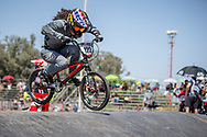 #122 (CARR Amanda) THA at round 8 of the 2018 UCI BMX Supercross World Cup in Santiago del Estero, Argentina.