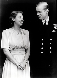 Feb 05, 1947; London, UK; Princess Elizabeth and Philip Moutbatten after announcing their engagement. The Princess is wearing her engagement ring.  (Credit Image: © Keystone CANADA/Keystone Canada/ZUMAPRESS.com)