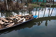 On the other hand tourism makes the environment more polluted.For the making of Shikaras there  is no limit of cutting down trees which is another reason for pollution . Generally Deodar wood is used to make shikaras and willow wood for artifacts. Srinagar, © Sandipa Malakar.