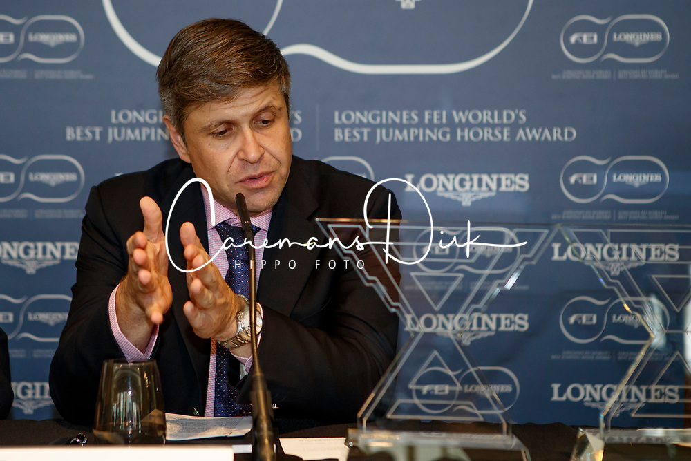 Juan Carlos Capelli, Vice President of the Longines Watch Company<br /> CSIO Barcelona 2017<br /> © Hippo Foto - Dirk Caremans<br /> 30/09/2017