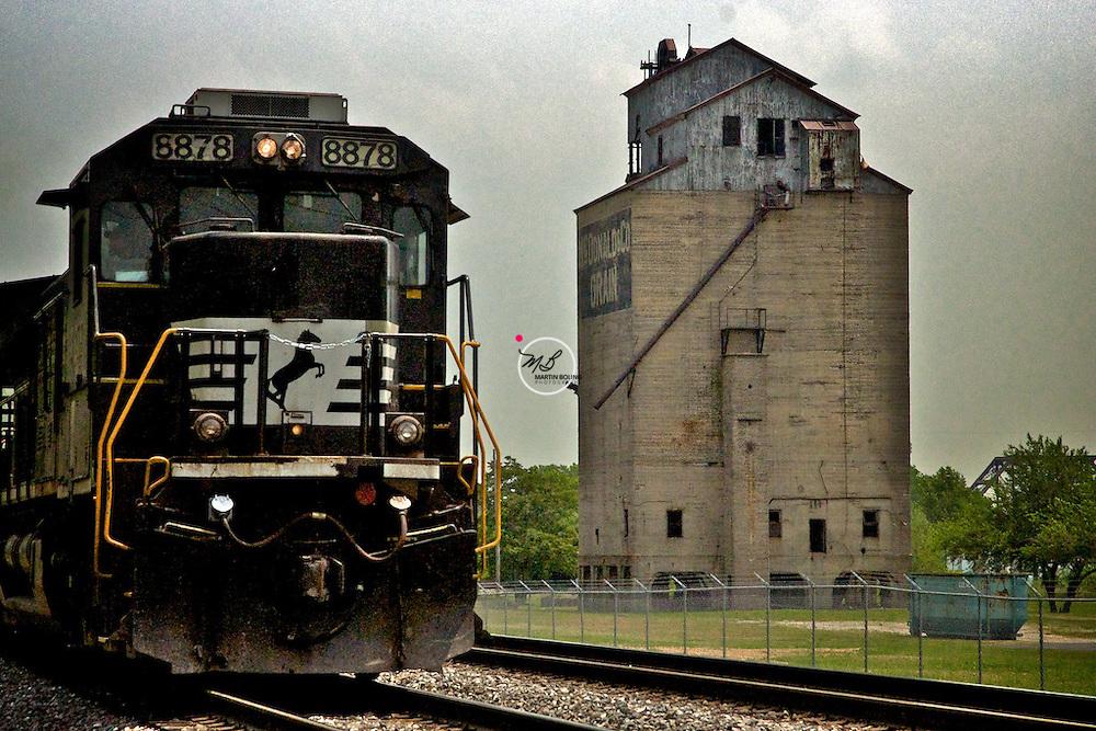 Train and Grain Elevator