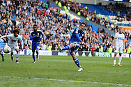 Peter Whittingham  of Cardiff city © scores his teams 2nd goal from a penalty to make it 2-1. Skybet football league championship match, Cardiff city v Bolton Wanderers at the Cardiff city Stadium in Cardiff, South Wales on Saturday 23rd April 2016.<br /> pic by Andrew Orchard, Andrew Orchard sports photography.