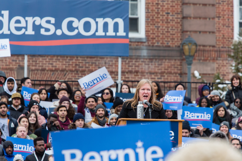 Brooklyn, NY - 2 March 2019. Jane Sanders speaking at Bernie Sanders' first rally for the 2020 presidential primary at Brooklyn College.