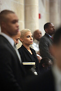 December 11, 2013-New York, NY:  Recording Artist Goapele attends the Nelson Mandela Commemorative Memorial service held at the Riverside Church on December 11, 2013 in New York City. Nelson Rolihlahla Mandela was inaugurated as the first black President of a democratic South Africa on May 10, 1994 bringing democracy and ending the oppressive rule of apartheid . (Terrence Jennings)