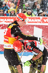 31.01.2016, Casino Arena, Seefeld, AUT, FIS Weltcup Nordische Kombination, Seefeld Triple, Langlauf, im Bild Eric Frenzel (GER) // Eric Frenzel of Germany reacts after 15km Cross Country Gundersen Race of the FIS Nordic Combined World Cup Seefeld Triple at the Casino Arena in Seefeld, Austria on 2016/01/31. EXPA Pictures © 2016, PhotoCredit: EXPA/ JFK