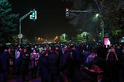 People attend a rally demanding the resignation of Armenia's Prime Minister Nikol Pashinyan, in Yerevan, Armenia on Tuesday, Dec 15, 2020. Capital Yerevan has seen on-going protests since the November 9 ceasefire that was signed in Nagorno-Karabakh between Armenia, Russia, and Azerbaijan, an agreement that came into effect and resulted with Armenian troops withdrawal from the troubled region. (VXP Photo/ Vudi Xhymshiti)