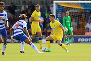AFC Wimbledon midfielder Jake Reeves (8) takes captaincy during the Pre-Season Friendly match between AFC Wimbledon and Reading at the Cherry Red Records Stadium, Kingston, England on 23 July 2016. Photo by Stuart Butcher.