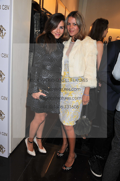 Left to right, JENNIFER ELGUMATI and LISA MOORISH at a party hosted by Roberto Cavalli to celebrate his new Boutiques's opening at 22 Sloane Street, London followed by a party at Battersea Power Station, London SW8 on 17th September 2011.
