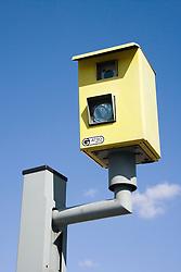 Fixed Gatso speed camera on the roadside,
