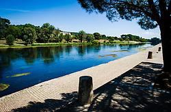 Dordogne River in Sainte-Foy-la-Grande, Gironde, Aquitaine, France<br /> <br /> (c) Andrew Wilson | Edinburgh Elite media