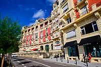 France, Pyrénées-Atlantiques (64), Pays Basque, Biarritz, avenue de l'Imperatrice // France, Pyrénées-Atlantiques (64), Basque Country, Biarritz, avenue de l'Imperatrice