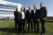 SHOT 10/31/18 11:33:34 AM - Mediacom Communications Corporation is a cable television and communications provider headquartered in Chester, New York. Founded in 1995 by Rocco B. Commisso, it serves primarily smaller rural markets in the Midwest and Southern United States. In the group photo Mediacom's Jack Griffin, Mark Stephan, Tom Larsen, Ruben Martino, Rocco Commisso and CoBank RM Gary Franke. (Photo by Marc Piscotty © 2018)