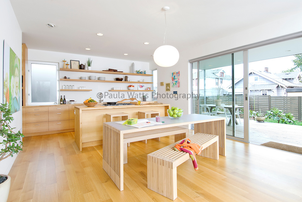 Modern kitchen interior showing lifestyle, function, and minimalism