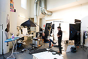 Friday December 12th 2008. .Issy-les-Moulineaux (Hauts de Seine), France..In the photo studios of the press group Marie-Claire..