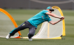 Australia's David Warner during a training session at the Adelaide Oval, Adelaide.