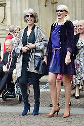 Maureen Lipman, Anneka Rice  beim Gedenkgottesdienst f¸r Terry Wogan im Westminster Abbey in London / 270916<br /> <br /> ***Memorial service for Terry Wogan at Westminster in London, September 27th, 2016***