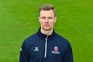 James Alway head shot at Somerset County Cricket Club at the Cooper Associates County Ground, Taunton, United Kingdom on 11 April 2018. Picture by Graham Hunt.