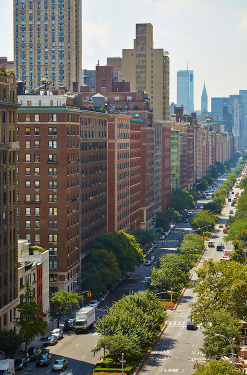 View down Park Avenue from 1192 Park Avenue, 12th floor