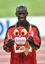 25-08-2015 CHN: IAAF World Championships Athletics day 4, Beijing<br /> Ezekiel Kemboi Ken, winner at 3000 steeplechase<br /> Photo by Ronald Hoogendoorn / Sportida